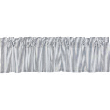 Sawyer Mill Blue Ticking Stripe Valance