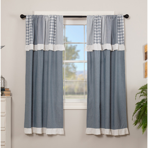 Sawyer Mill Blue Short Panel with Attached Valance