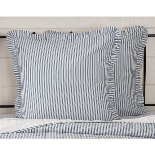 Sawyer Mill Blue Ticking Stripe Euro Sham