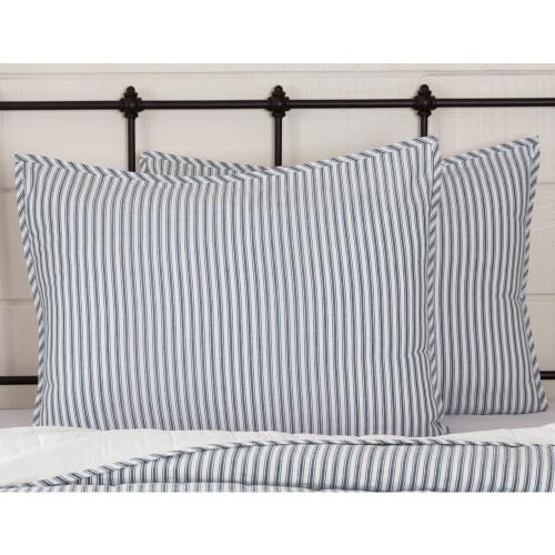 Sawyer Mill Blue Ticking Stripe Standard Sham