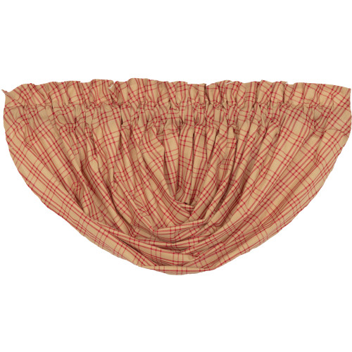 Sawyer Mill Red Plaid Balloon Valance