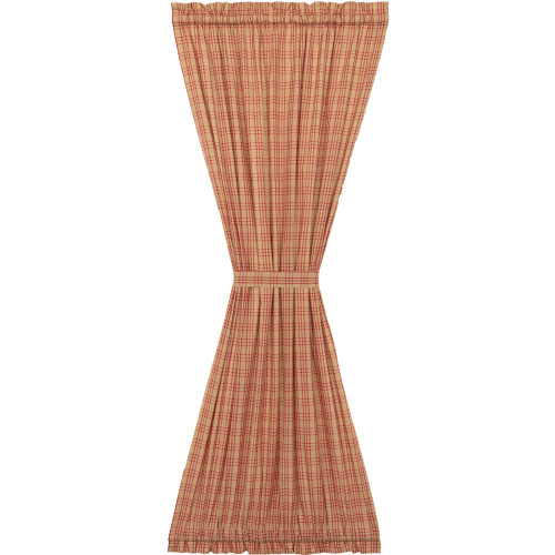 Sawyer Mill Red Plaid Door Panel Curtain