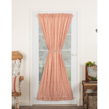 Sawyer Mill Red Ticking Stripe Door Panel Curtain