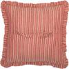"Sawyer Mill Red Windmill Pillow 18"" x 18"" - Reverse"