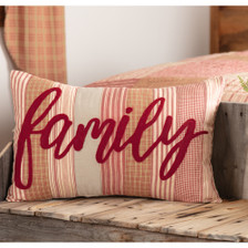 """Sawyer Mill Red Family Pillow 14"""" x 22"""""""