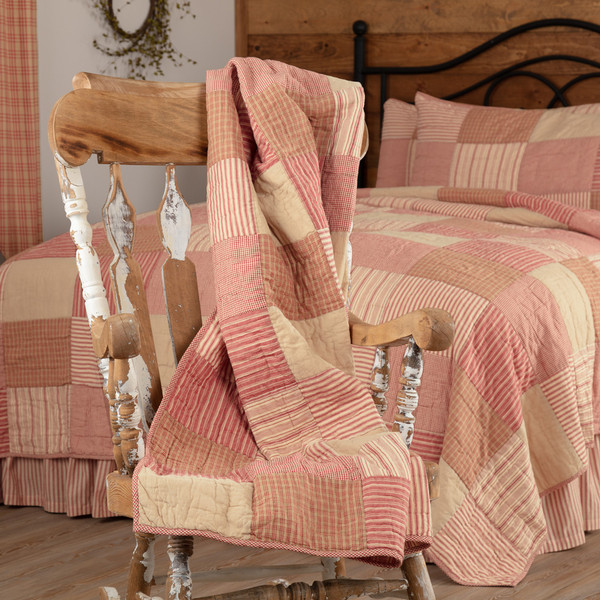 Sawyer Mill Red Quilted Throw