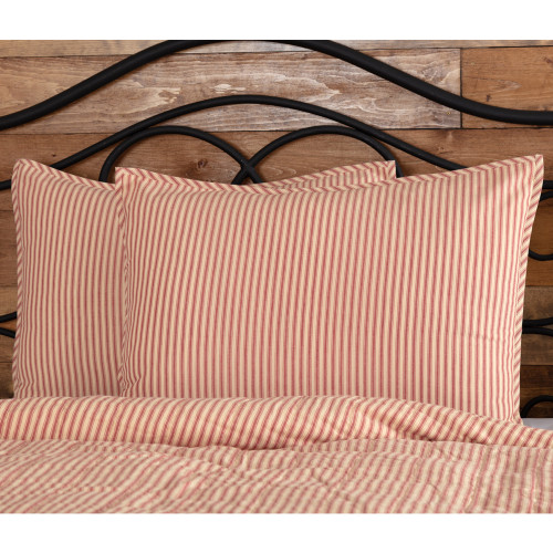 Sawyer Mill Red Ticking Stripe Standard Sham