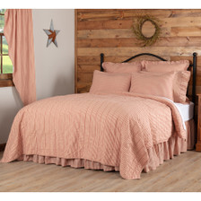 Sawyer Mill Red Ticking Stripe Quilt Coverlet