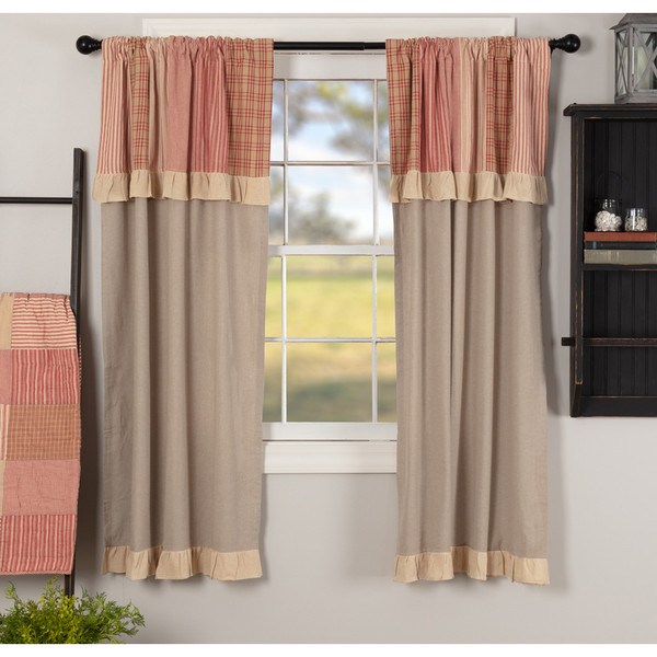 Sawyer Mill Red Short Panel with Attached Valance