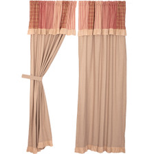 Sawyer Mill Red Panel Set with Attached Valance
