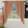 Sawyer Mill Red Plaid Prairie Curtain Set