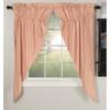 Sawyer Mill Red Ticking Stripe Prairie Curtain Set