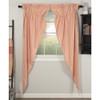Sawyer Mill Red Ticking Stripe Long Prairie Curtain Set