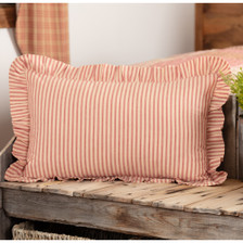 "Sawyer Mill Red Ticking Stripe Pillow 14"" x 22"""