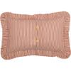 "Sawyer Mill Red Ticking Stripe Pillow 14"" x 22"" - Reverse"