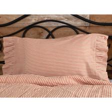 Sawyer Mill Red Ticking Stripe Pillowcase Set