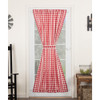 Annie Buffalo Red Check Door Panel Curtain