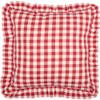 Annie Buffalo Red Check Fabric Euro Sham