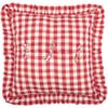 Annie Buffalo Red Check Fabric Euro Sham - Reverse