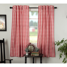 Annie Buffalo Red Check Short Panel Set