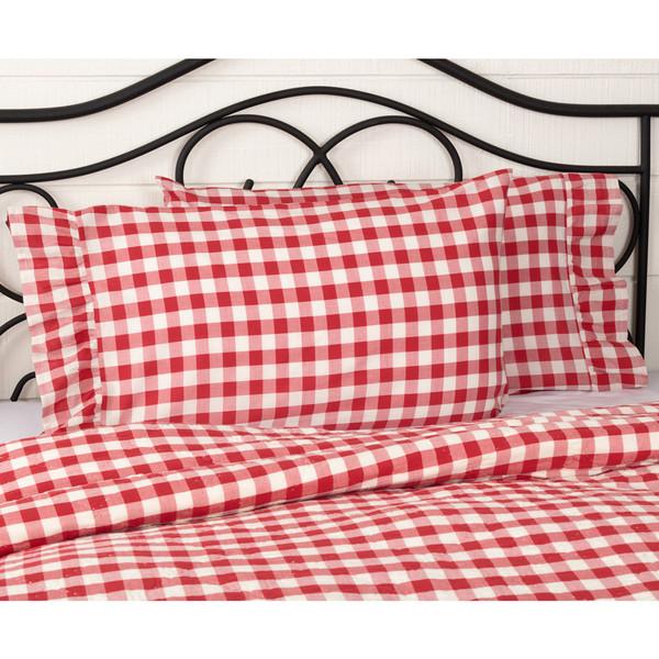 Annie Buffalo Red Check Pillowcase Set