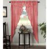 Annie Buffalo Red Check Long Prairie Curtain Set