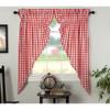Annie Buffalo Red Check Prairie Curtain Set
