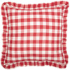 "Annie Buffalo Red Check Fabric Pillow 18"" x 18"""