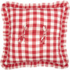 """Annie Buffalo Red Check Fabric Pillow 18"""" x 18"""" - Reverse"""