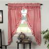 Annie Buffalo Red Check Ruffled Prairie Curtain Set