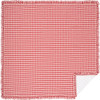 Annie Buffalo Red Check Quilt Coverlet