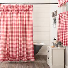 Annie Buffalo Red Check Shower Curtain