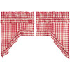 Annie Buffalo Red Check Ruffled Swag Set