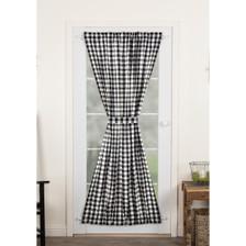 Annie Buffalo Black Check Door Panel Curtain