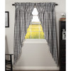 Annie Buffalo Black Check Long Prairie Curtain Set
