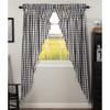 Annie Buffalo Black Check Long Prairie Curtain Set