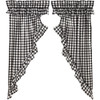 Annie Buffalo Black Check Ruffled Prairie Curtain Set