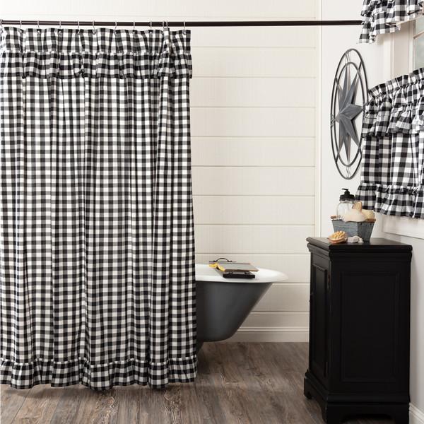 Annie Buffalo Black Check Shower Curtain