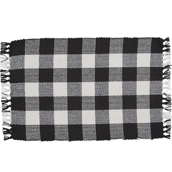 Wicklow Yarn Placemat Set - Black and Cream