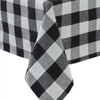 Wicklow Check Table Cloth - Black and Cream