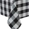 Wicklow Check Table Cloth - Black and Cream