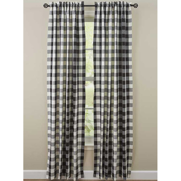"""Wicklow Lined 84"""" Panel Set in Black and Cream"""