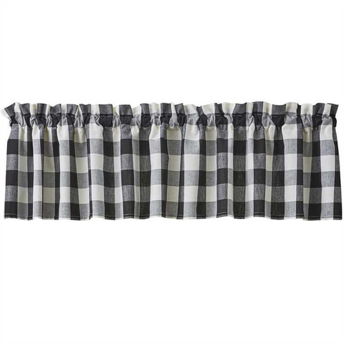 Wicklow Valance - Black and Cream