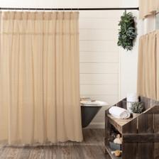 Burlap Vintage Shower Curtain