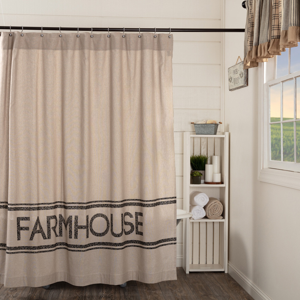 Sawyer Mill Farmhouse Shower Curtain By VHC Brands