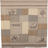 Sawyer Mill Charcoal Patchwork Shower Curtain