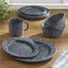Granite Enamelware Soup Bowl Set- Gray