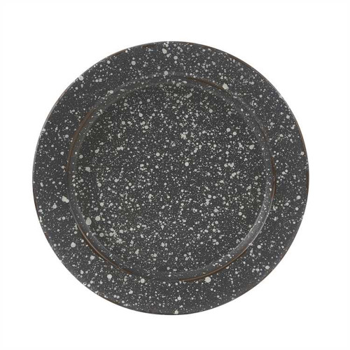 Granite Enamelware Salad Plate Set- Gray