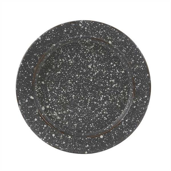Granite Enamelware Salad Plate Set- Gray