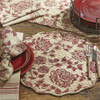 Rustic Floral Round Placemat Set